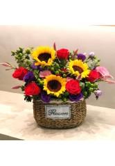 Custom Made Flower Hamper by FDflowers